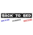 Grunge back to bed scratched rectangle watermarks