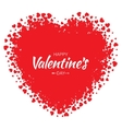 Grunge Red Heart Valentines Day Card Background vector image vector image