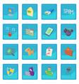 hacking icon blue app vector image