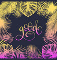 hand lettering inspirational poster good vibes vector image vector image
