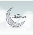 happy muharram creative moon design vector image