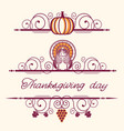 happy thanksgiving decorative vignettes and vector image
