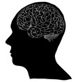 human brain sketched up eps vector image vector image