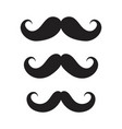 icons mustaches black cartoon moustache vector image vector image