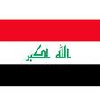 iraqi flag vector image vector image