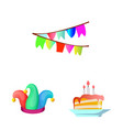 isolated object of party and birthday logo vector image