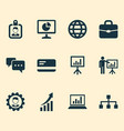 job icons set collection of chatting payment vector image vector image