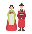 korea korean characters culture traditional vector image