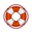 life buoy icon on white background vector image vector image