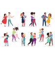 male and female pairs of dancers men and women vector image