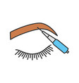 microblading eyebrows color icon vector image vector image