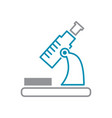 microscope icon grey and blue on white background vector image vector image