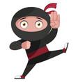 ninja is fighting on white background vector image vector image