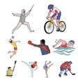 olympic sports winter and summer sports a set of vector image vector image