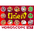 Orient horoscope set vector image vector image
