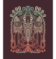 original ethnic pattern with birds and flower vector image vector image