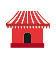 park booth carnival festival vector image vector image