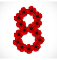 poppies number eight vector image vector image