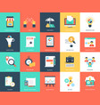 project management flat icons pack vector image vector image