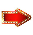 red and gold arrow with diamonds isolated on vector image vector image