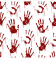 Red bloody scary hands imprint seamless pattern