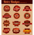 Retro badges combined 2 vector | Price: 1 Credit (USD $1)