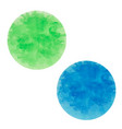 round ink spots blue and green vector image