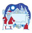 Santa landscape vector image vector image