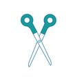 scissors tool icon vector image vector image