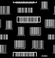 seamless black and white pattern with barcodes vector image