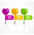 Set of darts option banner vector image vector image