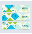 Set of horizontal banners Background with vector image vector image