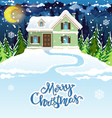 Snowy house vector image vector image