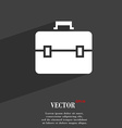 suitcase symbol Flat modern web design with long vector image