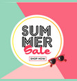 summer sale shop now sunglasses circle frame color vector image vector image