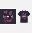 summer t-shirt and apparel modern design vector image