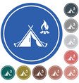 tourist tent icon vector image