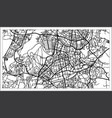 vilnius lithuania map in black and white color vector image vector image