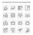 waterproof water leak icon vector image