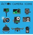 Action camera set flat style vector image