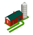 cereal silo and storage house vector image