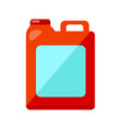 red jerry can isolated on white vector image