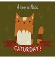 Cats Saturday Postcard vector image