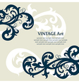 7floral line 48 2 vector image vector image