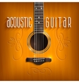 Acoustic Guitar Background vector image