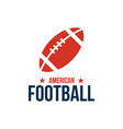 american football sport graphic design inspiration vector image vector image