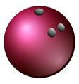 B owling ball vector image vector image