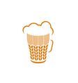 Beer glass with wheat ears and foam logo concept vector image vector image