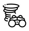 binocular tornado icon outline vector image vector image