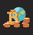 bitcoin cryptocurrency design vector image vector image